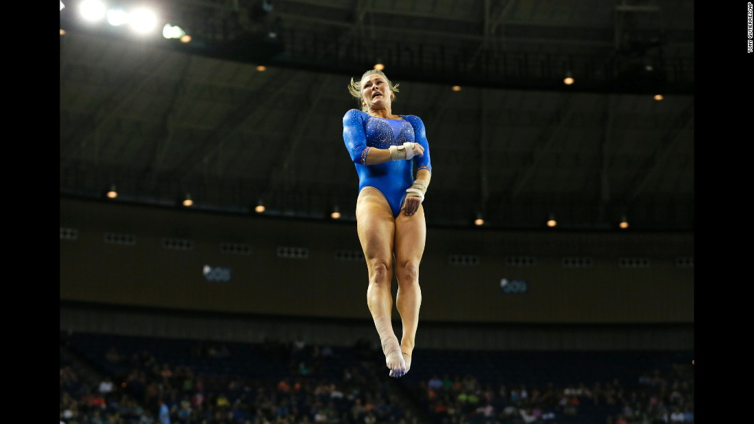 Florida's Bridget Sloan competes on the vault during the NCAA women's gymnastics championships on Saturday, April 16, in Fort Worth, Texas.