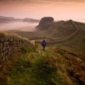 Beautiful England 21 VB_Hadrian's Wall towards sunrise near Housesteads Fort in Northumberland