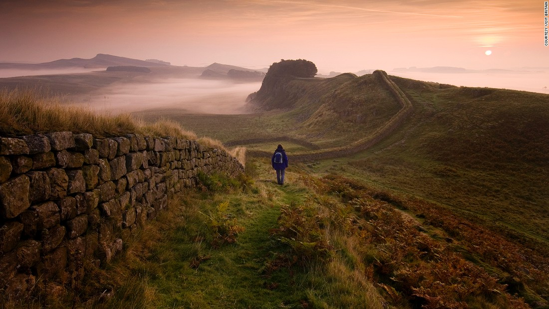 "<a href=""http://hadrianswallcountry.co.uk/"" target=""_blank"">Hadrian's Wall</a> spans 135 kilometers from Maryport in the west to Tyne and Wear in the east. The UNESCO World Heritage Site was built to keep tribal warriors out of the northern frontier of the ancient Roman Empire. In the picture is a section of the Roman wall near Housesteads Fort in Northumberland."