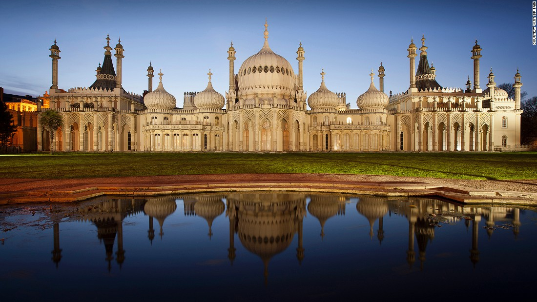 "The southern seaside town of Brighton has its own eccentric answer to the Taj Mahal. Built for King George IV, the 193-year-old <a href=""http://brightonmuseums.org.uk/royalpavilion/"" target=""_blank"">Royal Pavilion<em></a> </em>is now open to the public as a museum. It houses an ice rink from November to January each year."