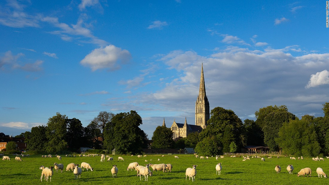 "Standing only 13 kilometers from Stonehenge, <a href=""http://www.salisburycathedral.org.uk/"" target=""_blank"">Salisbury Cathedral</a> in Wiltshire is one of England's most beautiful churches. The structure, built between 1220 and 1258, has Britain's tallest spire -- 332 steps to the top of the tower -- and Europe's oldest working clock."