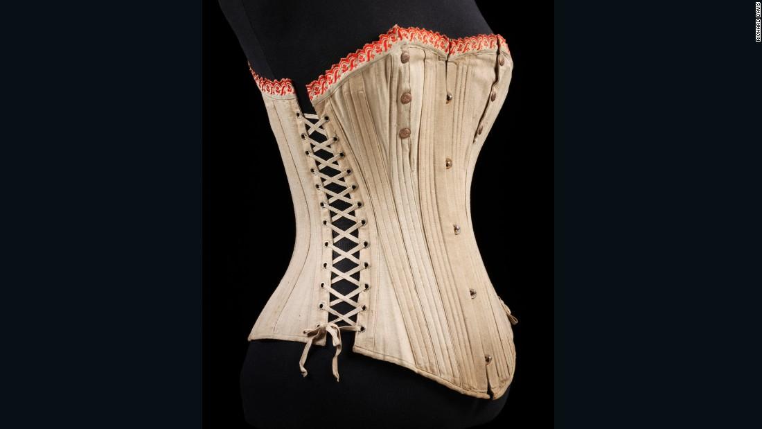 Ladies maternity corset, 1875-1899
