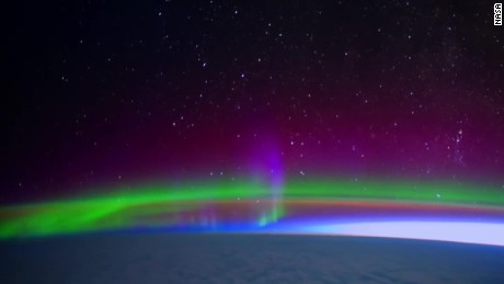 stunning aurora borealis from space vo_00000000