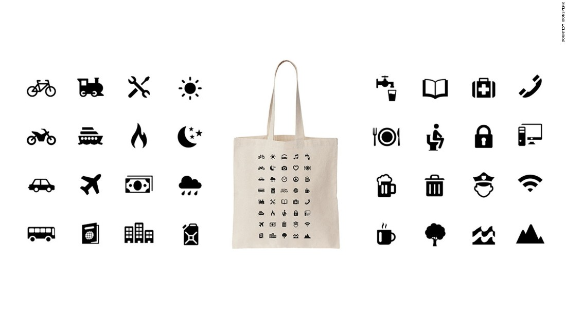 Iconspeak also produces a range of other ways to communicate, including tote bags, hats and tank tops.