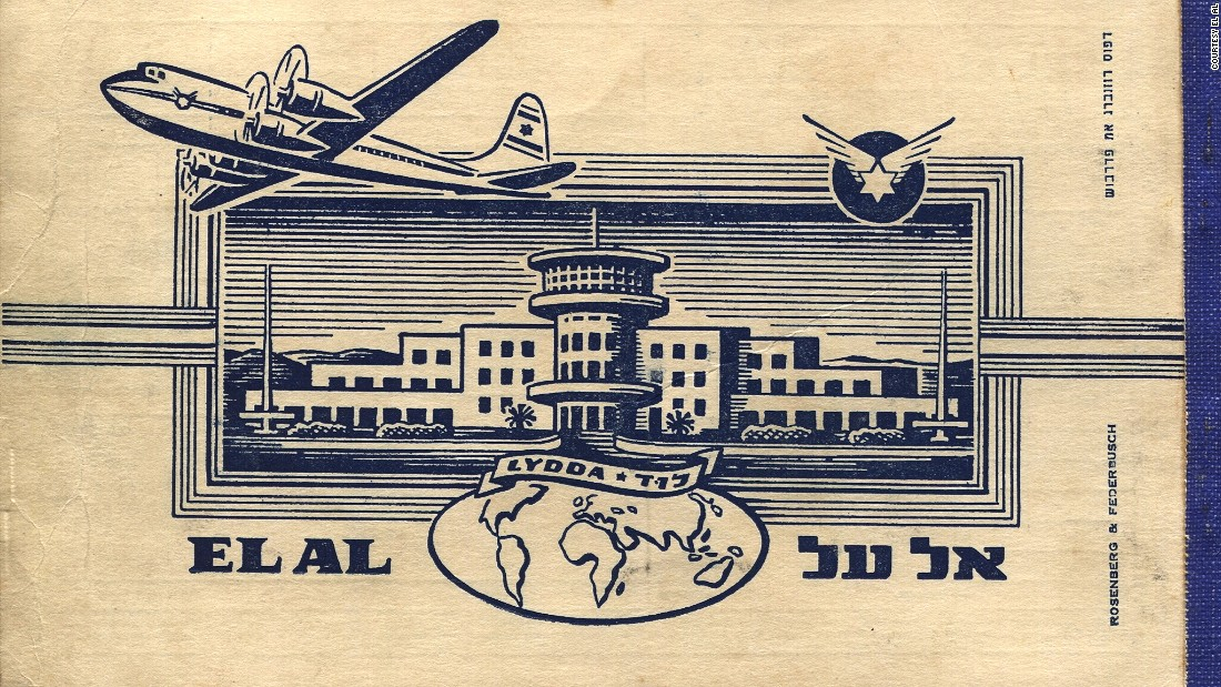 "Goldman says he's trying to save historical documents -- like this old El Al ticket -- from the ""thrower-outers."""