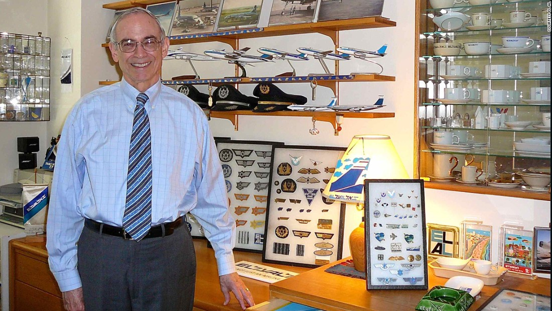 Former lawyer Marvin Goldman has over 40,000 items of El Al Airlines memorabilia in his New York apartment. He's the Israel-based carrier's unofficial historian.