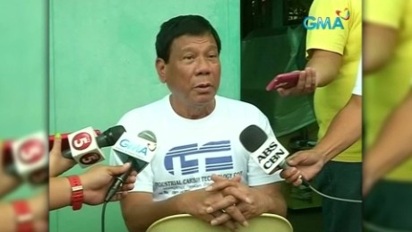 Philippines presidential candidate jokes about rape