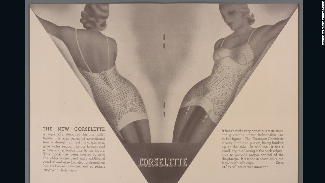 Advertising brochure for Charnaux 'Anotex' corsetry, c.1934