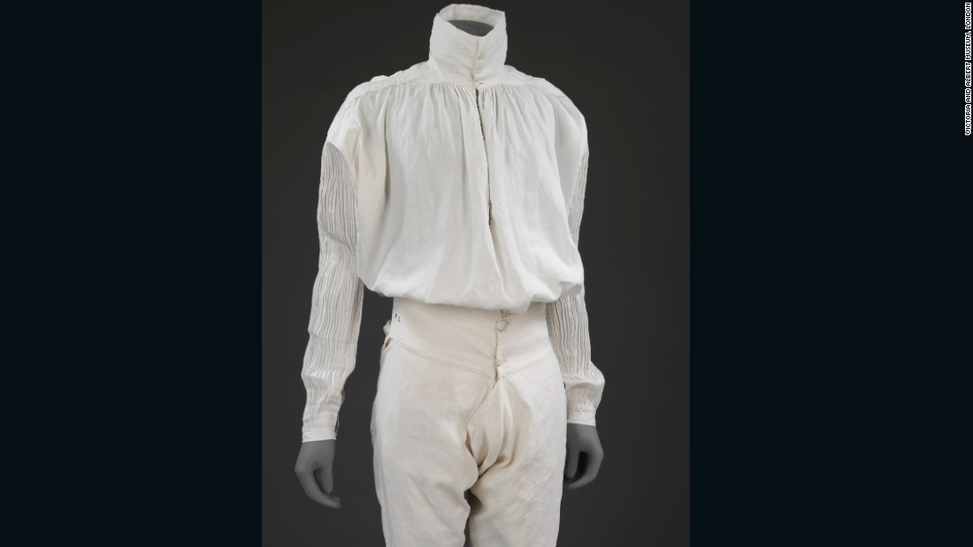 Man's linen shirt, Great Britain, 1775-1800 and underdrawers, France, 1775-1799