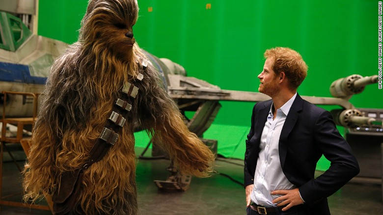 Royals visit Star Wars set at Pinewood