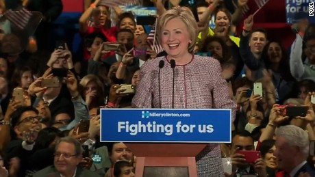 Hillary Clinton's New York primary victory speech