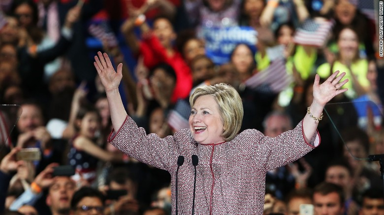 Clinton says nomination is in sight