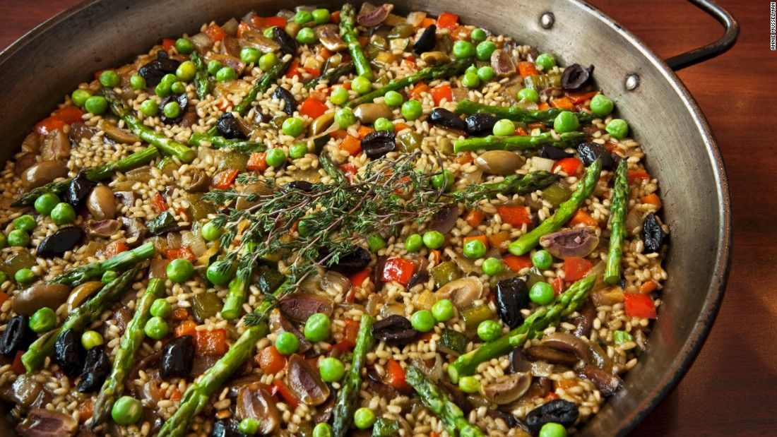 "In 2010, Jose Andres taught 16-year-old brain cancer patient David Pearson how to make this paella to incorporate more vegetables into his diet. ""That was the beginning of a friendship that gave me more than I gave to David,"" Andres said. When Pearson passed away in 2012, the first meal they made together became the dish that Andres made for Pearson's loved ones at the celebration of his life."