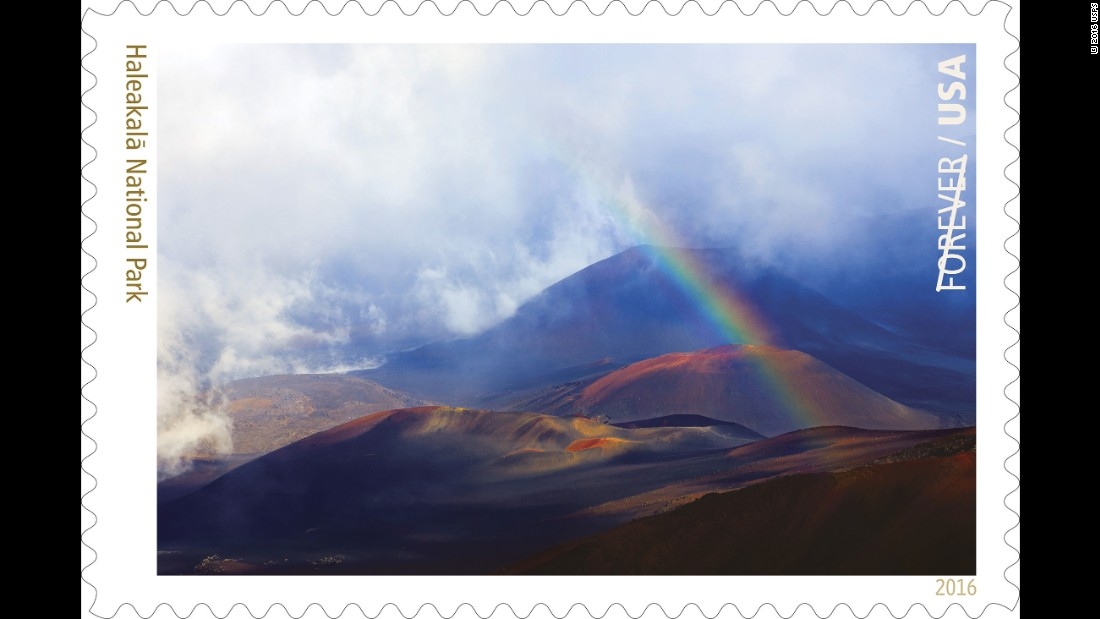 The late afternoon sun shining into a rainstorm created these rainbows over the crater at Haleakalā National Park on the Hawaiian island of Maui. Photographer Kevin Ebi, who lives near Seattle, took the picture.