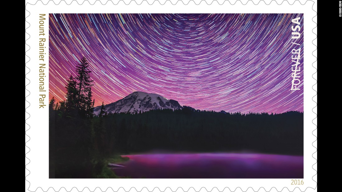 A star trail photograph comprised from 200 images is the creation of Matt Dieterich of Pittsburgh, who worked at Mount Rainier as an intern with the National Park Service Geoscientist-in-the-Parks program.
