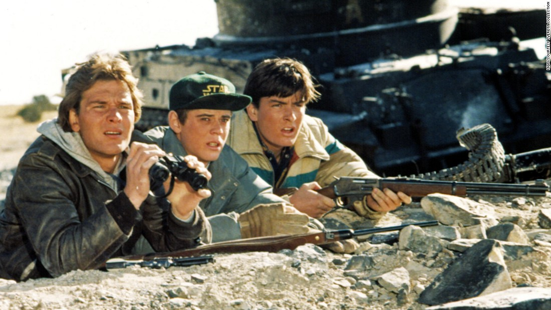 "Hollywood went to extremes with Cold War themes in the '80s. Imagine a Soviet invasion of an American small town. That was the idea behind 1984's ""Red Dawn,""  starring Patrick Swayze, C. Thomas Howell and Charlie Sheen. Click through the gallery for more photos of '80s Cold War films."