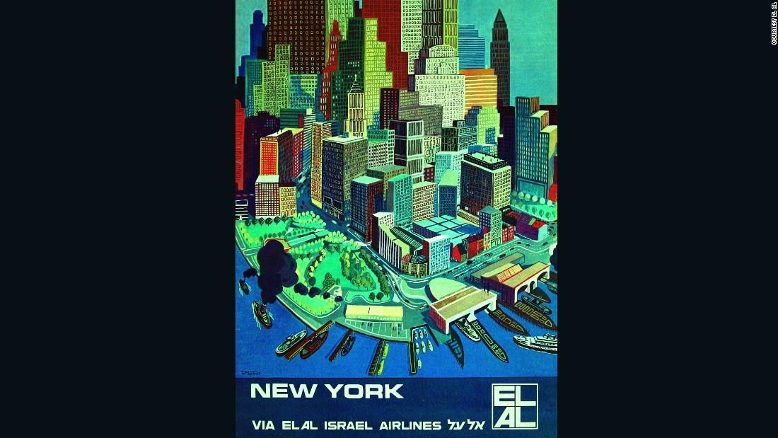 Rosenfeld also designed this 1960s poster of New York. Goldman says posters are hard to come by, because they're sought after by both aviation collectors and poster collectors.
