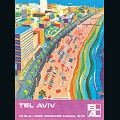 EL AL poster 'Tel Aviv' by Peri Rosenfeld