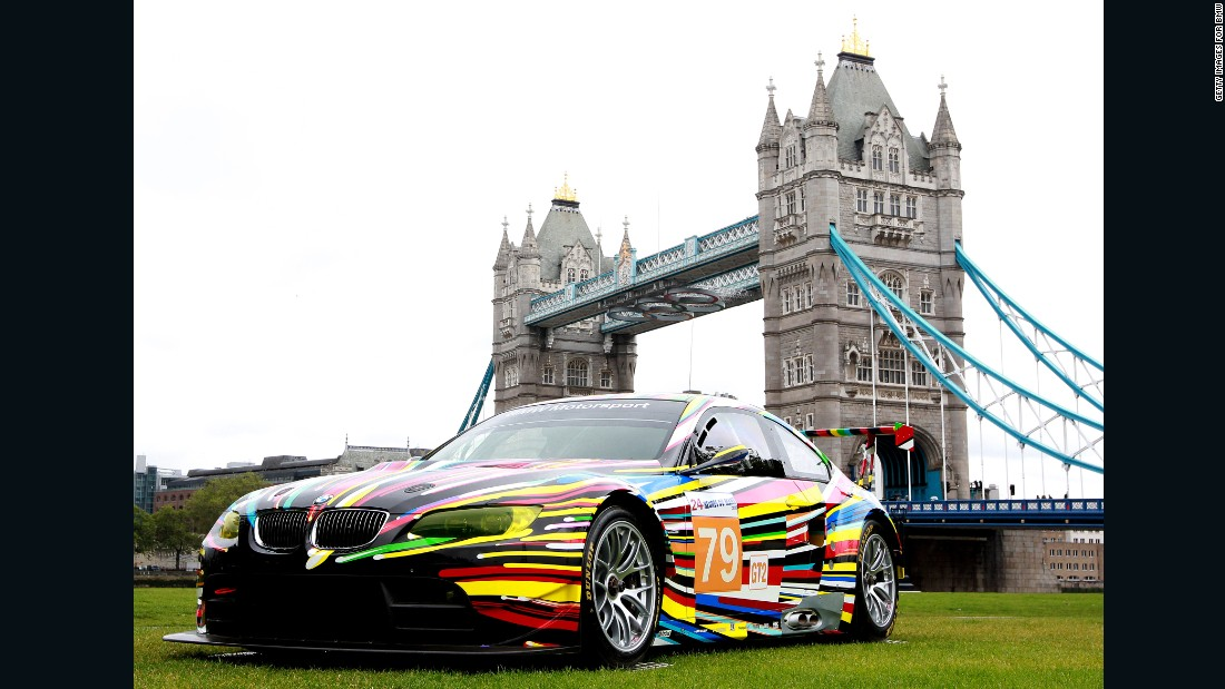 American artist Jeff Koons unveiled his BMW Art Car in 2010.
