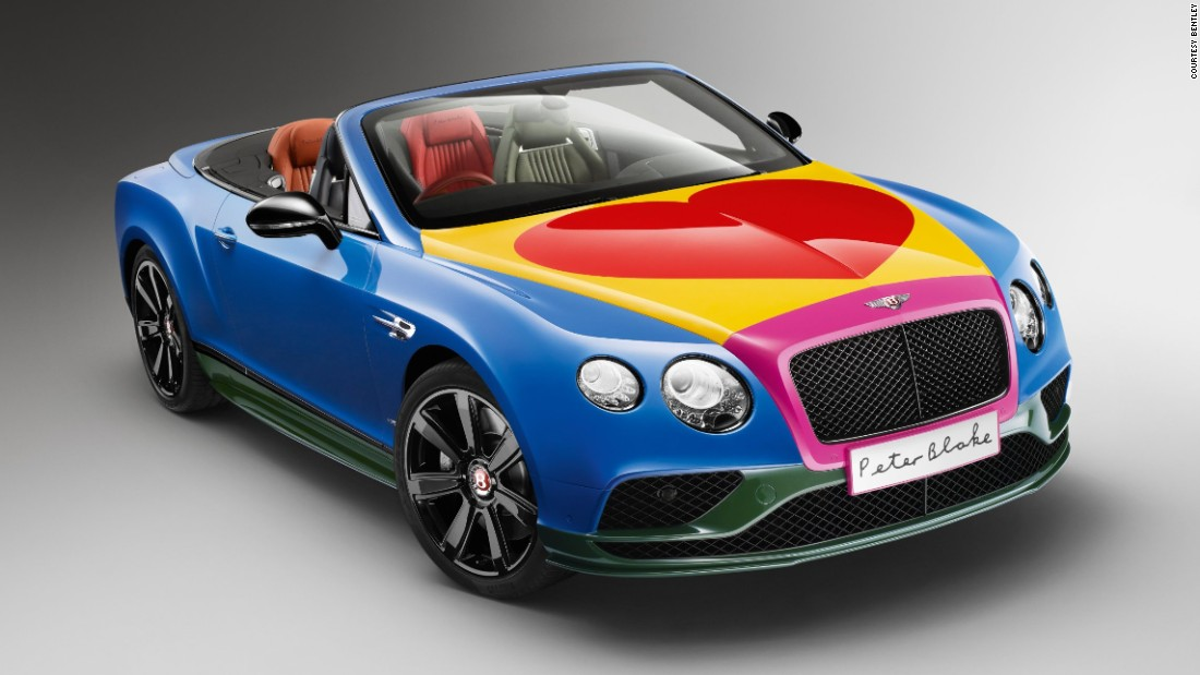 British artist Peter Blake has given a new look to a Bentley Continental GT V8 S Convertible.<br />The car will go up for auction on June 24 at the Goodwood Festival. Blake is not the only artist to have been commissioned by a car marque. Swipe though the gallery above to see other notable creative collaborations.