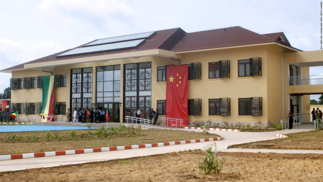 Dozens of African hospitals have been built with Chinese funds in recent years. President Xi Jinping inaugurated this hospital and a new university library in Brazzaville, Republic of Congo, in 2013.
