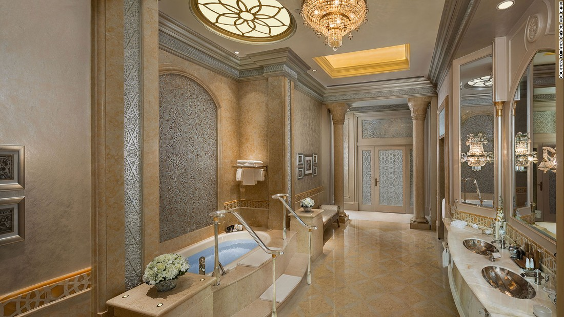 As well as lavish bathrooms, the Palace Suite has an elegant dining room and pantry. Plus a 24-hour butler. All that for $15,000.