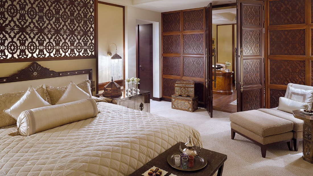 Dubai's $12,200-a-night Imperial Suite comes with four bedrooms, each with its own bathroom.