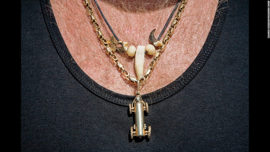 This solid-gold buggy pendant was designed by a local jeweler for $1,600.