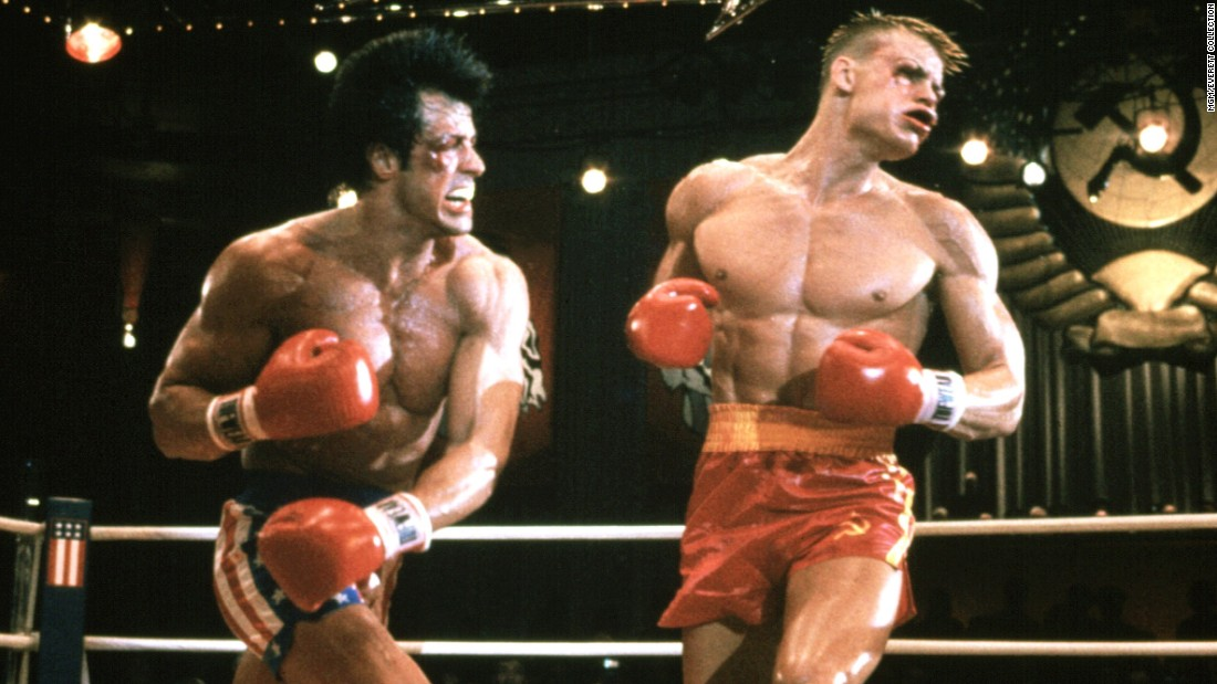 "Hey, your name is Rocky Balboa and a super-scary Soviet boxer named Ivan Drago kills your best friend Apollo Creed during a boxing match, see? What are ya gonna do about it? Challenge him to a mano-a-mano, globally broadcast revenge match, OF COURSE!  Arguably, ""Rocky IV"" is the masterpiece of Sylvester Stallone's long-running franchise. Why? Three things: Glitter, glory and guts."