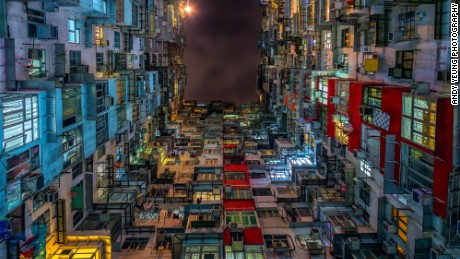 "Yeung's personal favorite is his series called ""Compact City,"" taken in Quarry Bay."