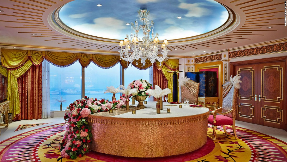 For all its extra luxuries, including a gold iPad, it's probably the decor of the Burj Royal Suite that will linger in memories the longest.