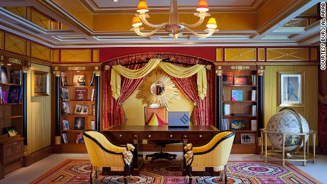 Rococo rendezvous: The Burj Al Arab's Royal Suite.