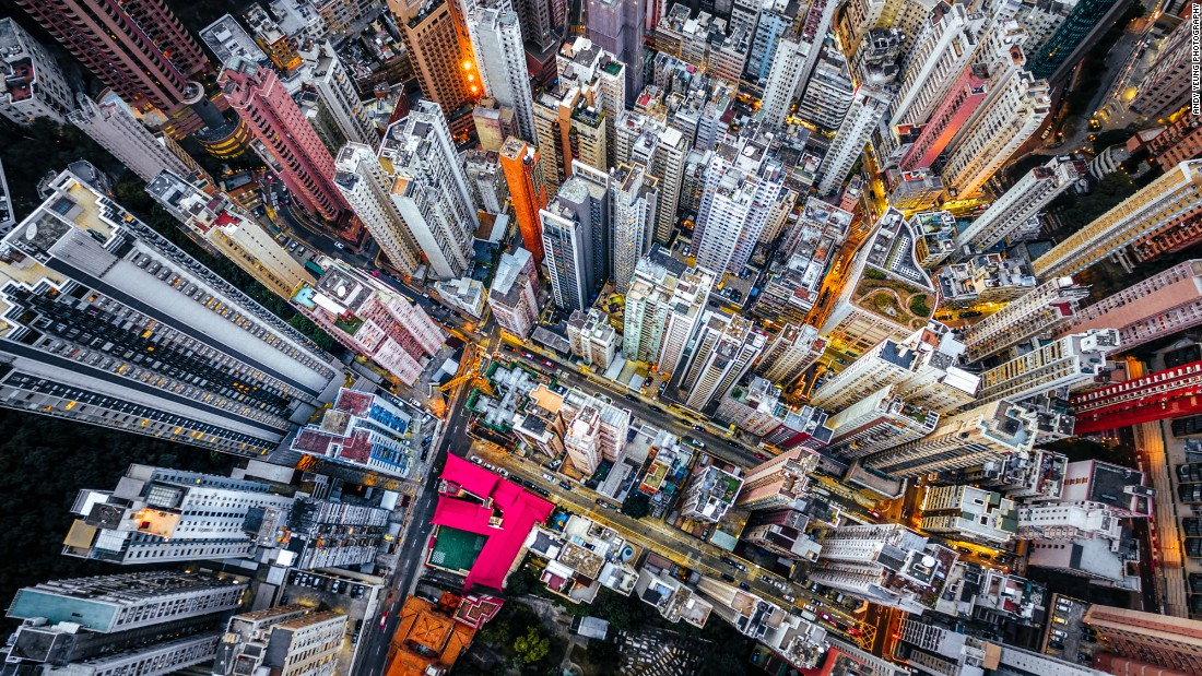 """What I like most about working with drones is we can see things we normally don't have access to,"" photographer Andy Yeung tells CNN. Click on to see how the Hong Konger has managed to capture the familiar in an original light."
