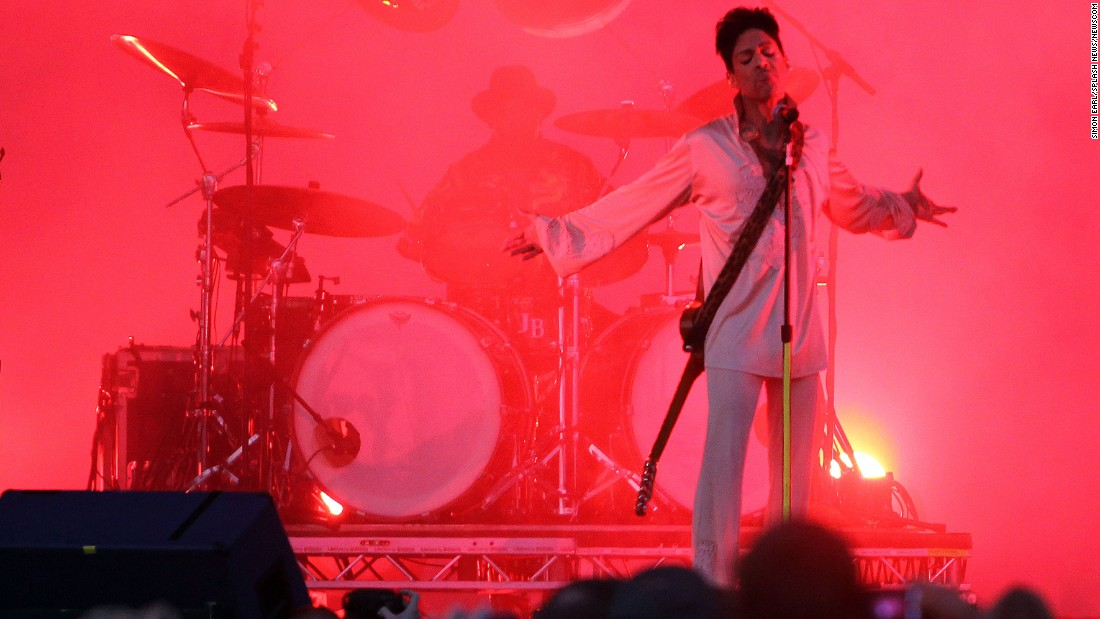 American pop legend Prince is pictured performing on the final night of the Hop Farm Music Festival in Kent, United Kingdom, in 2011.
