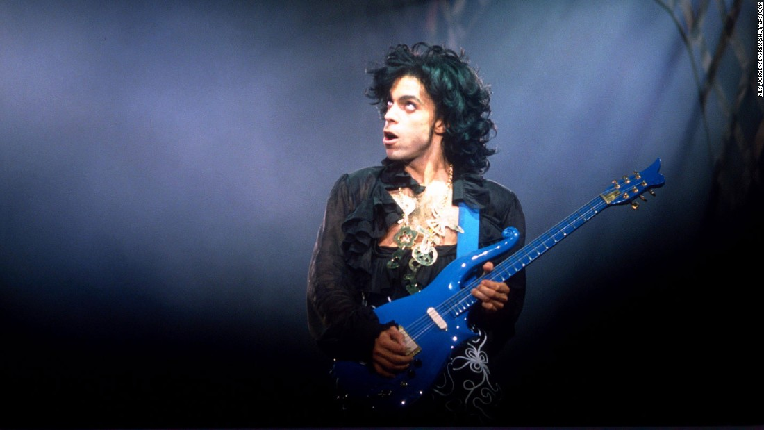Prince performs at Wembley Arena in London in 1988.