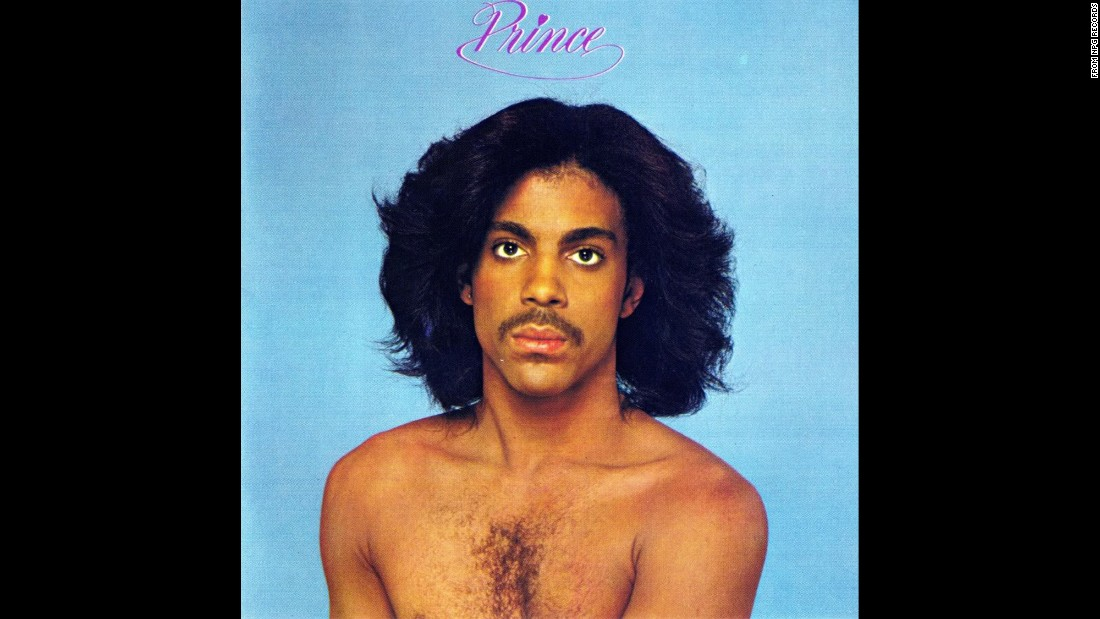Loose hair and bare chested -- the cover of Prince's 1979 self-titled sophomore album.<br />