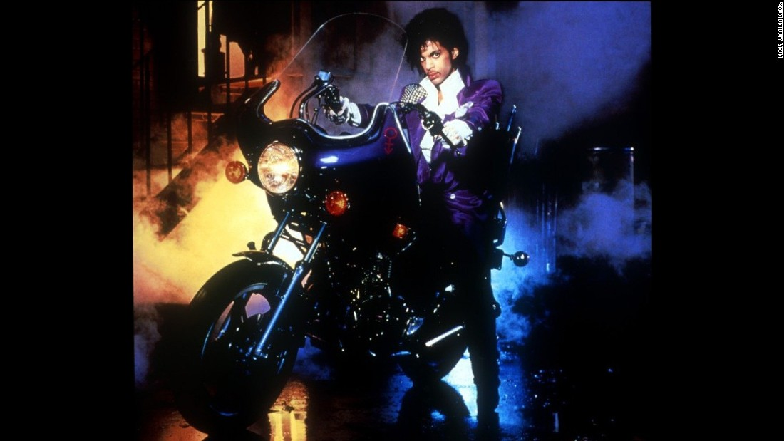 """Purple rain, purple rain"" -- The color which he became known for was best represented in the 1984 film ""Purple Rain""."