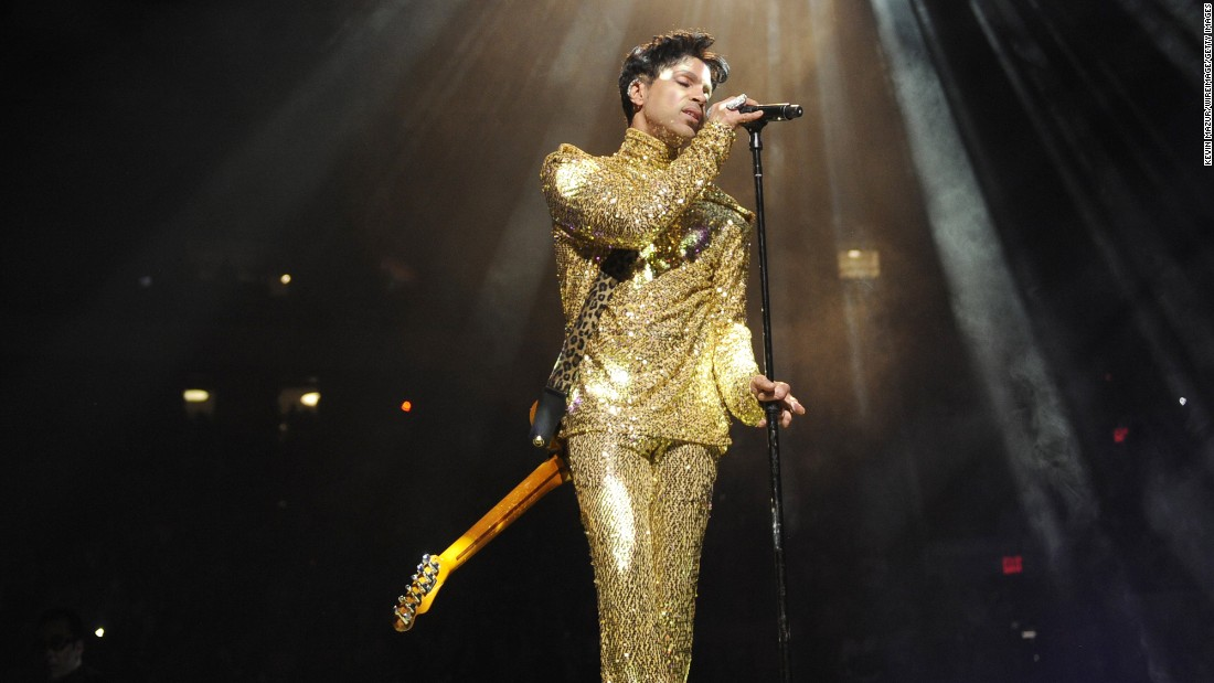 Never afraid to shine -- Wearing a head-to-toe sequined ensemble when he performed at Madison Square Garden in 2011.<br />