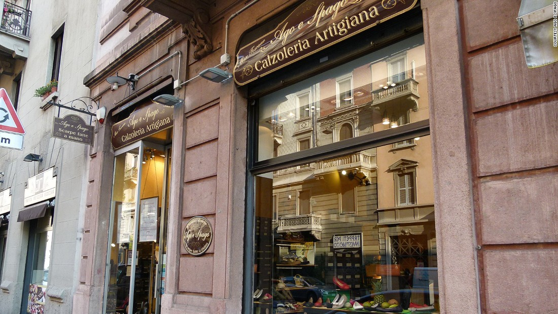 Italian craftsmanship at its best: Ago e Spago sells traditional brogues and loafers for men and women.