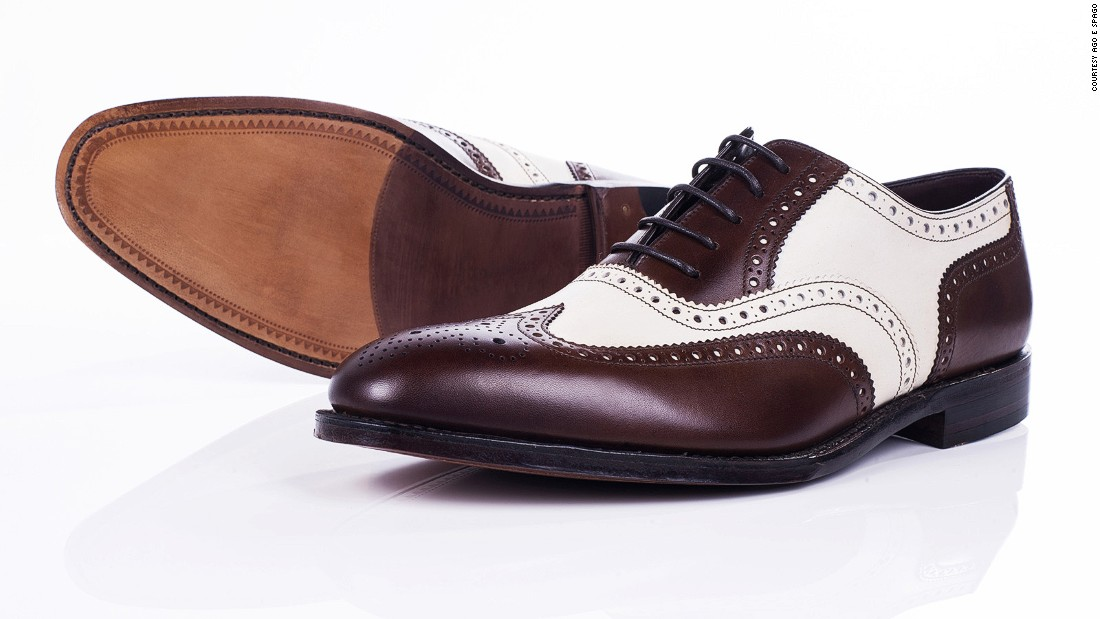 These 1930s-style two-tone brown and cream lace-ups are one of Ago e Spago's most popular models.