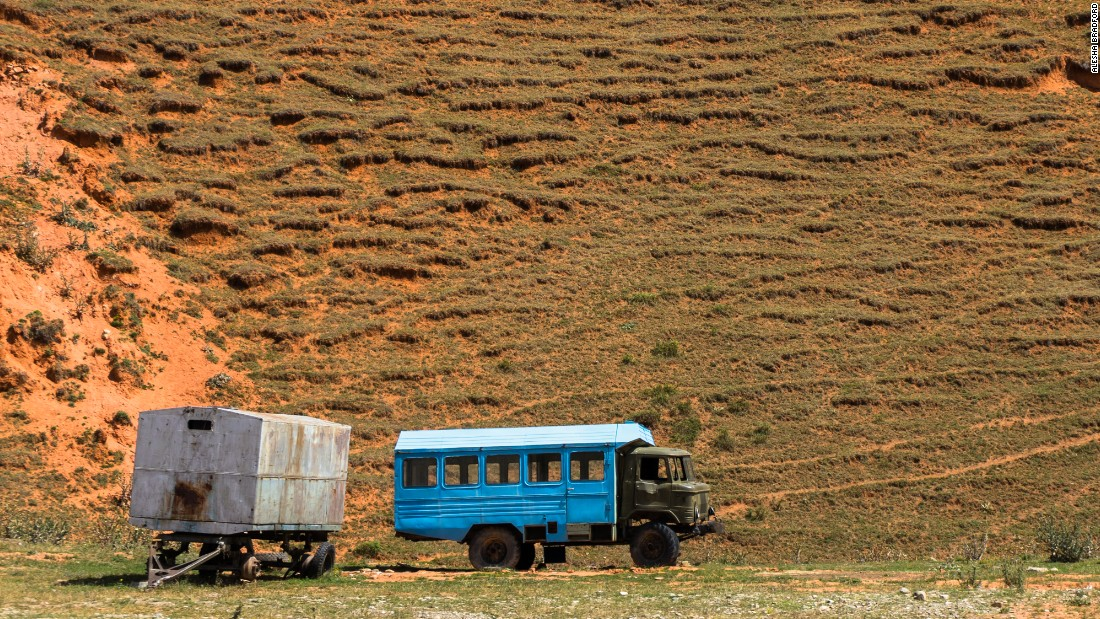 Abandoned vehicles litter the Kyrgyz landscapes, remnants of Soviet control exerted over Central Asia for most of the 20th century.