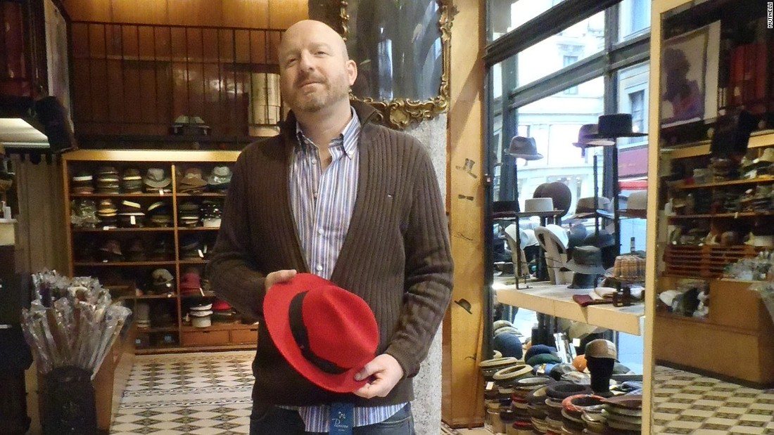 """A hat is much more than a simple accessory,"" says Matteo Mutinelli, the current owner of this family-run chapeau shop. ""It's a distinctive element of one's personality."""