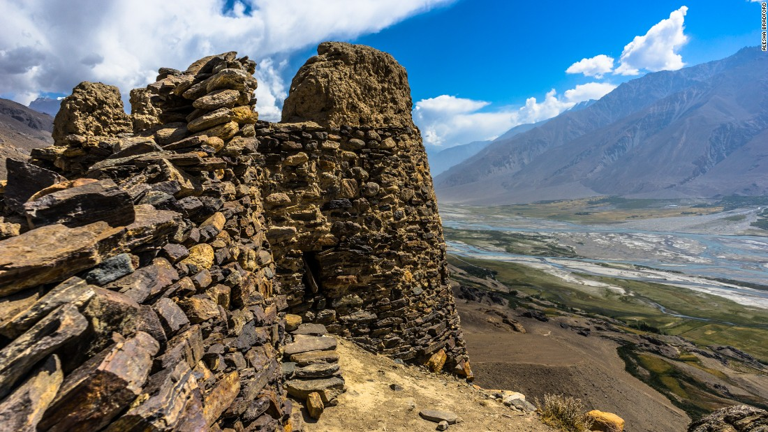 The Wakhan Corridor is home to dozens of ruined fortresses. Some, like this watchtower in Yamchun, are over 2,200 years old.
