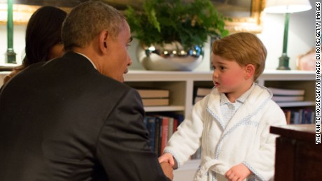 Prince George -- fashion icon and future king -- meets President Obama.