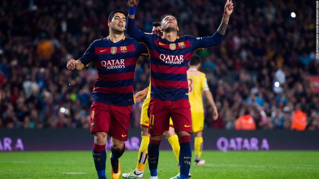 As did Brazilian striker, Neymar.