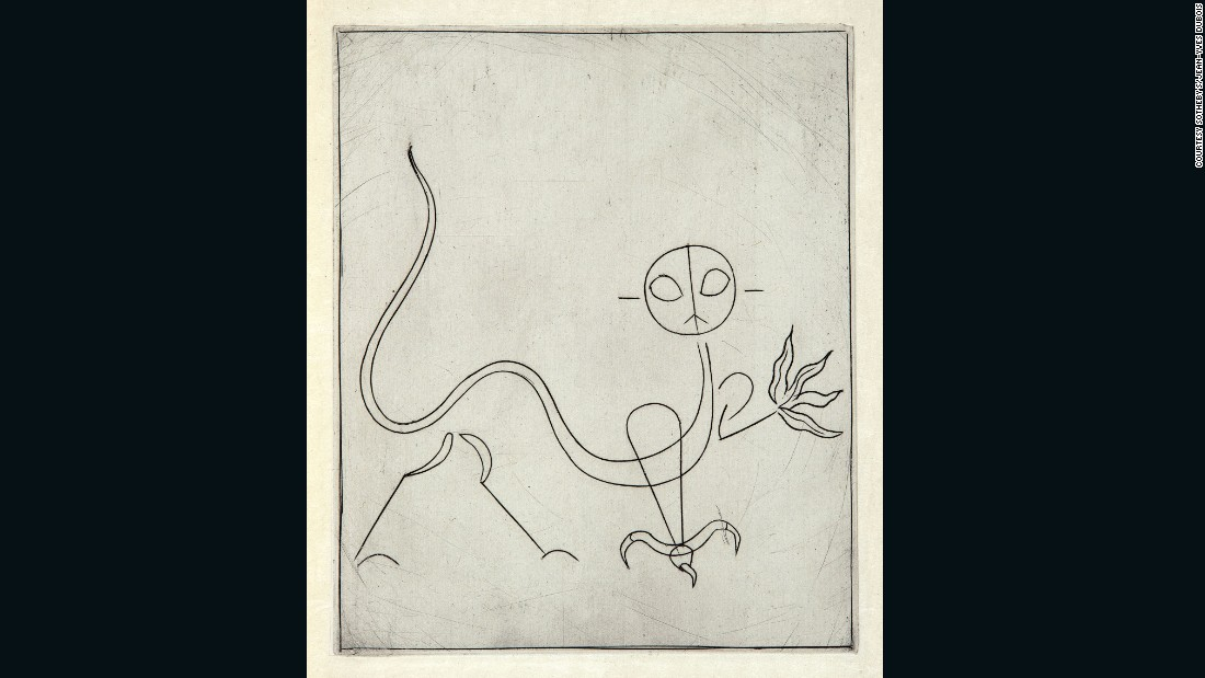 "Alberto Giacometti's own first edition copy of ""L'Air de l'Eau"" (1934) is also up for sale, one of the first five copies on Japon nacre."