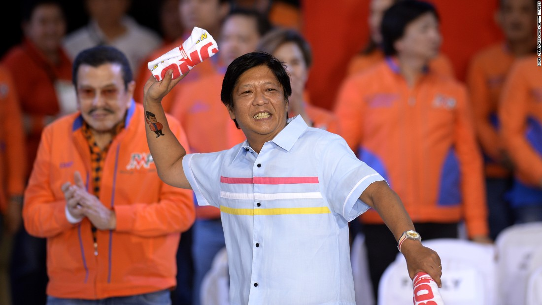 "This year's national election sees six candidates jockeying for the country's second highest office. The current frontrunner is Ferdinand ""Bongbong"" Marcos Jr., son of the late former Philippines President Ferdinand Marcos who ruled the country for decades before being toppled by a people's uprising."