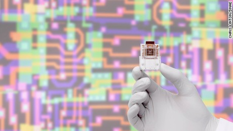 "Twitter chat guest Professor Chris Toumazou pioneered a wave of multidisciplinary study and discovery within electronics, biology, genetics and health care -- including his ""lab-on-a-chip,"" pictured."