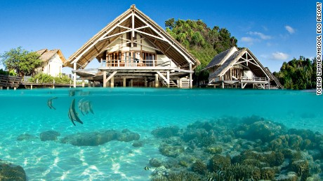 The Misool Eco Rescort is in the heart of the Coral Triangle.