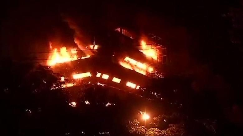 Huge blaze guts New Delhi museum
